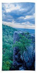 Beautiful Aerial Landscape Views From Crowders Mountain Near Gas Beach Towel