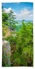 Beautiful Aerial Landscape Views From Crowders Mountain North Ca Beach Sheet