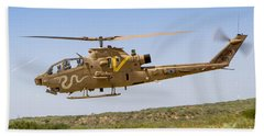 Bell Ah-1 Cobra Helicopter  Beach Towel