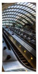 Canary Wharf Station Beach Towel by David Pyatt