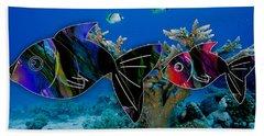 Coral Reef Painting Beach Towel