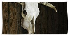 Cow Skull Beach Towel by James Larkin