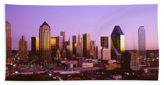 Dallas, Texas, Usa Beach Towel by Panoramic Images