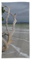 Driftwood On The Beach Beach Sheet by Christiane Schulze Art And Photography