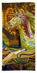 Beach Sheet featuring the photograph Fairground Carousel by Lee Avison