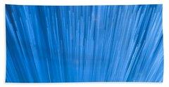 Fiber Optics Close-up Abstract Beach Towel