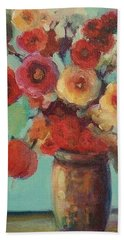 Floral Painting Beach Sheet