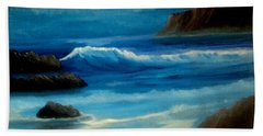 Beach Towel featuring the painting Illuminated by Holly Martinson