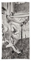 Illustration From La Maison Tellier By Guy De Maupassant Beach Towel