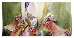 Iris Painting Beach Towel
