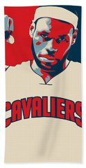 Lebron James Beach Towel by Taylan Apukovska