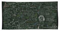 Maths Formula On Chalkboard Beach Towel