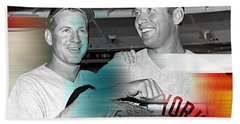 Mickey Mantle Beach Towel by Marvin Blaine