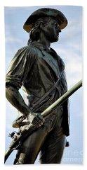 Minute Man Statue Concord Massachusetts Beach Towel