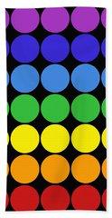 Mod Pop Mid-century Modern Circles Rainbow Beach Sheet
