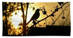 Listen To The Birds Beach Towel