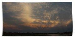 Nebraska Mammatus Sunset Beach Towel