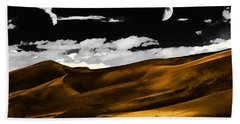 Night At The Great Sand Dunes Beach Towel