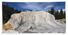 Orange Spring Mound Mammoth Hot Springs Yellowstone National Park Beach Towel