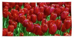 Beach Sheet featuring the photograph Red Tulips  by Allen Beatty