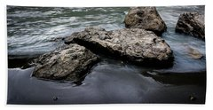 Rocks In The River Beach Towel