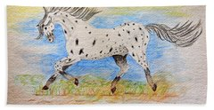 Running Free Beach Sheet by Debbie Portwood