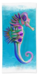 Beach Towel featuring the painting The Pretty Seahorse by Deborah Boyd