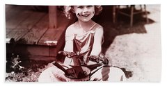 Shirley Temple Beach Towel by Marvin Blaine
