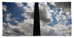Beach Towel featuring the photograph Silhouette Of The Washington Monument by Cora Wandel