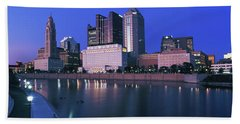 Skyscrapers At The Waterfront, Scioto Beach Towel