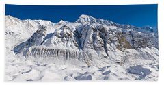 Snowcapped Mountain, Annapurna Base Beach Towel