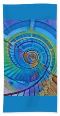 Stairway To Lighthouse Heaven Beach Towel