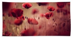 Summer Poppy Beach Towel