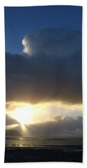 Sunbeams Over Conwy Beach Towel