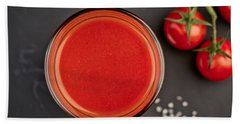 Tomato Juice Beach Towel