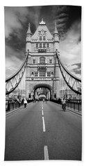 Tower Bridge In London Beach Sheet by Chevy Fleet