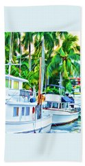 Two Boats Beach Towel