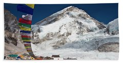 View Of Everest Base Camp Beach Towel