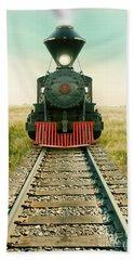 Vintage Train Engine Beach Sheet