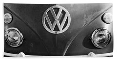 Volkswagen Vw Bus Front Emblem Beach Towel