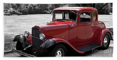 32 Ford Coupe Charmer Beach Towel