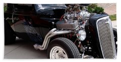 Beach Sheet featuring the photograph 34 Custom Chevy by Chris Thomas