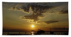 An Outer Banks Of North Carolina Sunset Beach Towel
