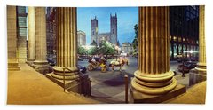 360 Degree View Of The Notre Dame De Beach Towel