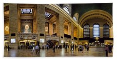 360 Panorama Of Grand Central Terminal Beach Towel