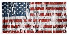 American Flag 49 Beach Sheet