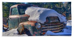 Beach Towel featuring the photograph 3800 Chevy by Alana Ranney