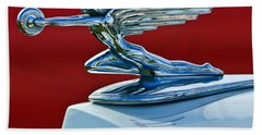 1936 Packard Hood Ornament Beach Towel