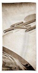 1957 Oldsmobile Hood Ornament Beach Towel