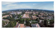 Aerial View Of Stanford University Beach Towel by Panoramic Images